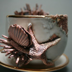 """Bottom feeder teacup and saucer"" ($600)"