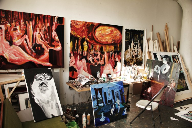 Bradley's studio