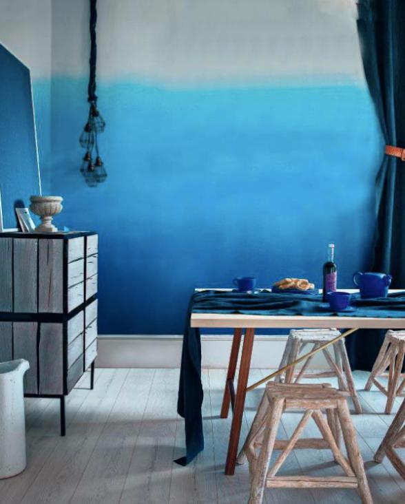 Blue Ombre Walls