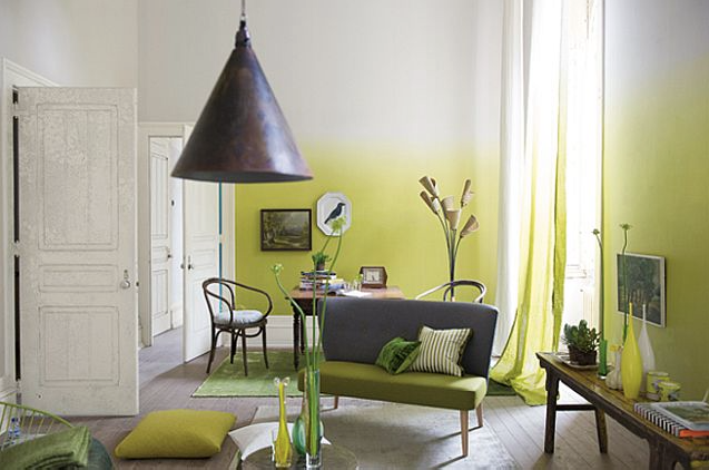 Chartreuse Ombre Curtains