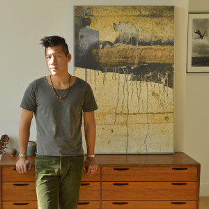 Lucas Lai - In front of photograph