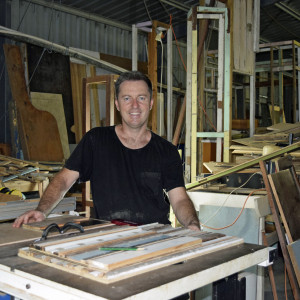 James Watts in workshop