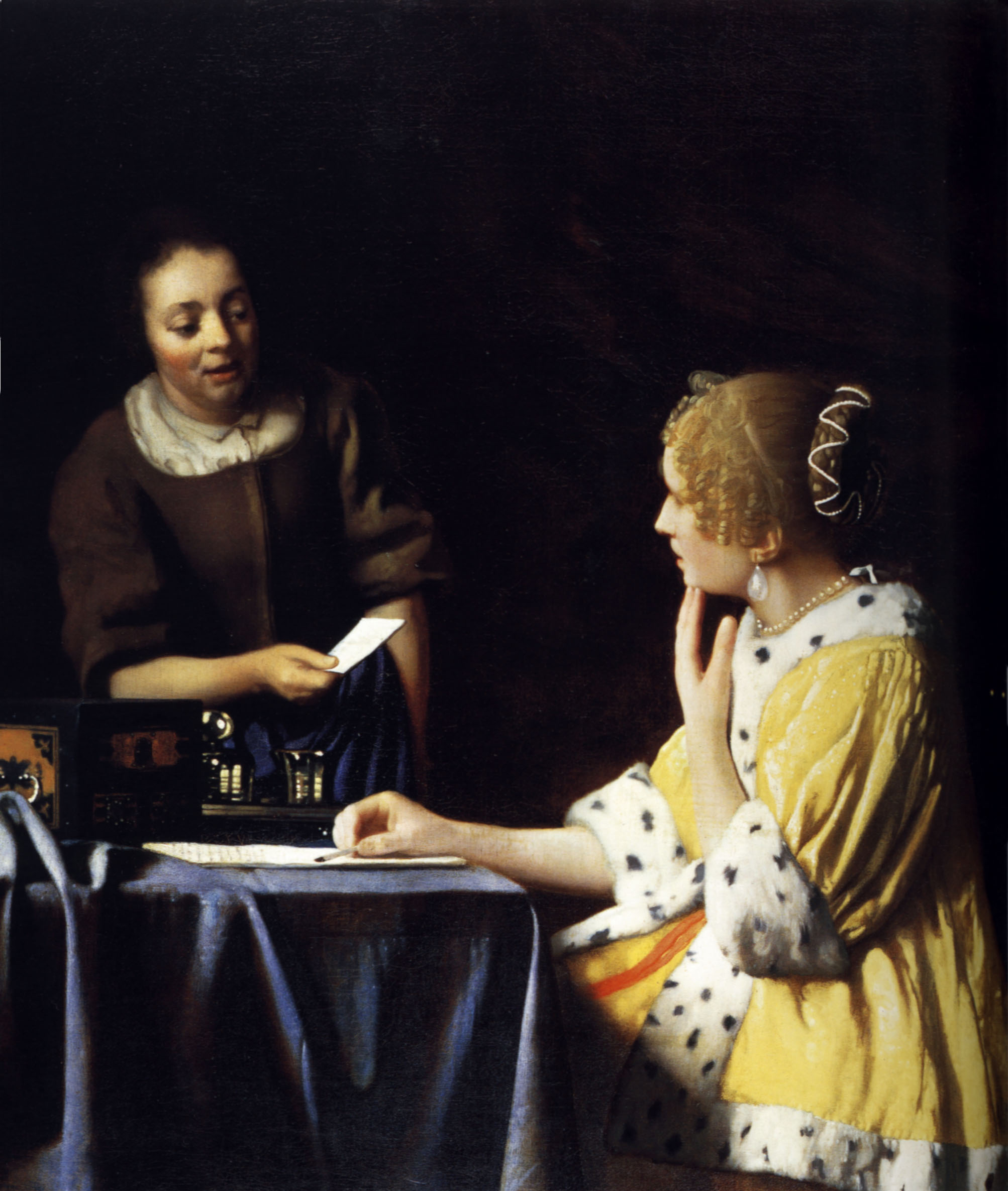 the frick collection includes vermeer's 1677 mistress and maid painting