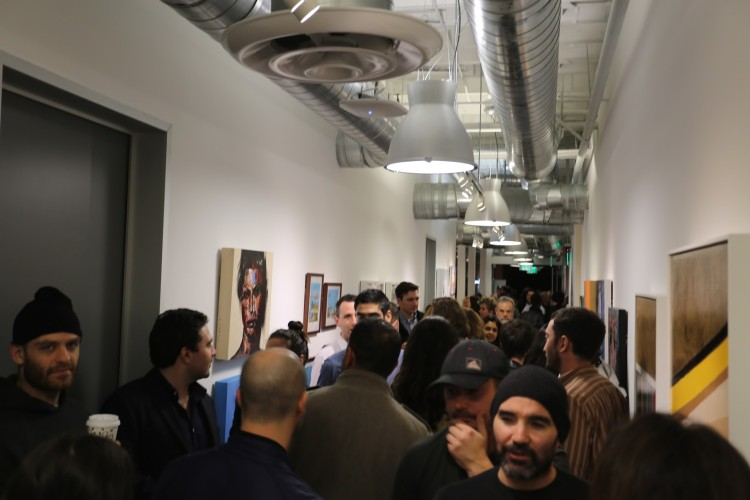 The opening was packed to the brim all night – Thanks to all who came out!