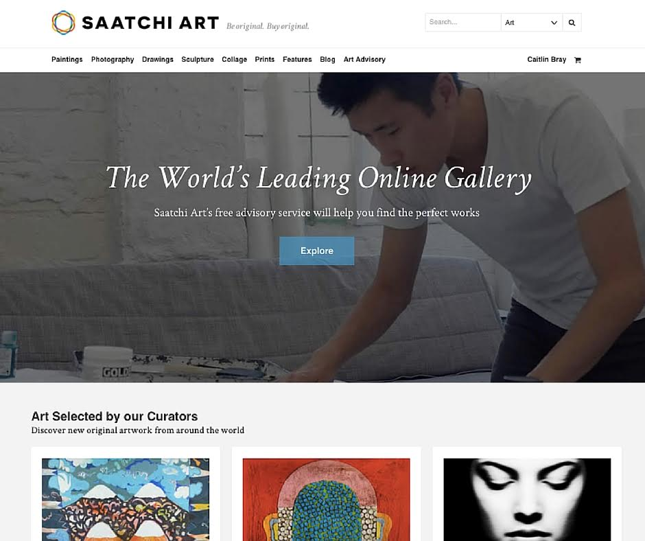 saatchi art's new homepage features original art and photography for sale