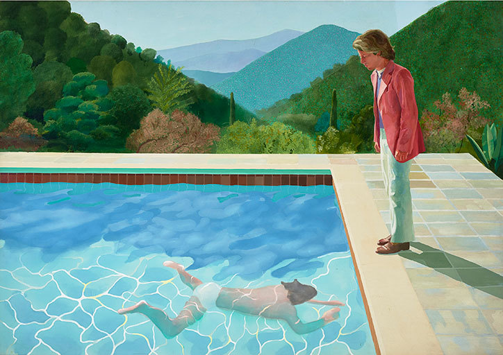 see david hockney's beloved california pools and landscapes at the tate next year