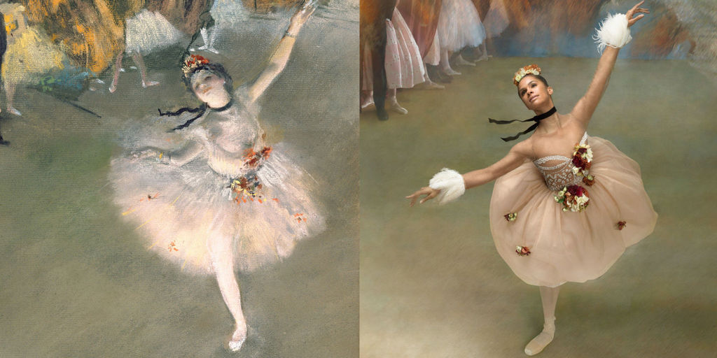 degas dancers come to life by professional ballerina