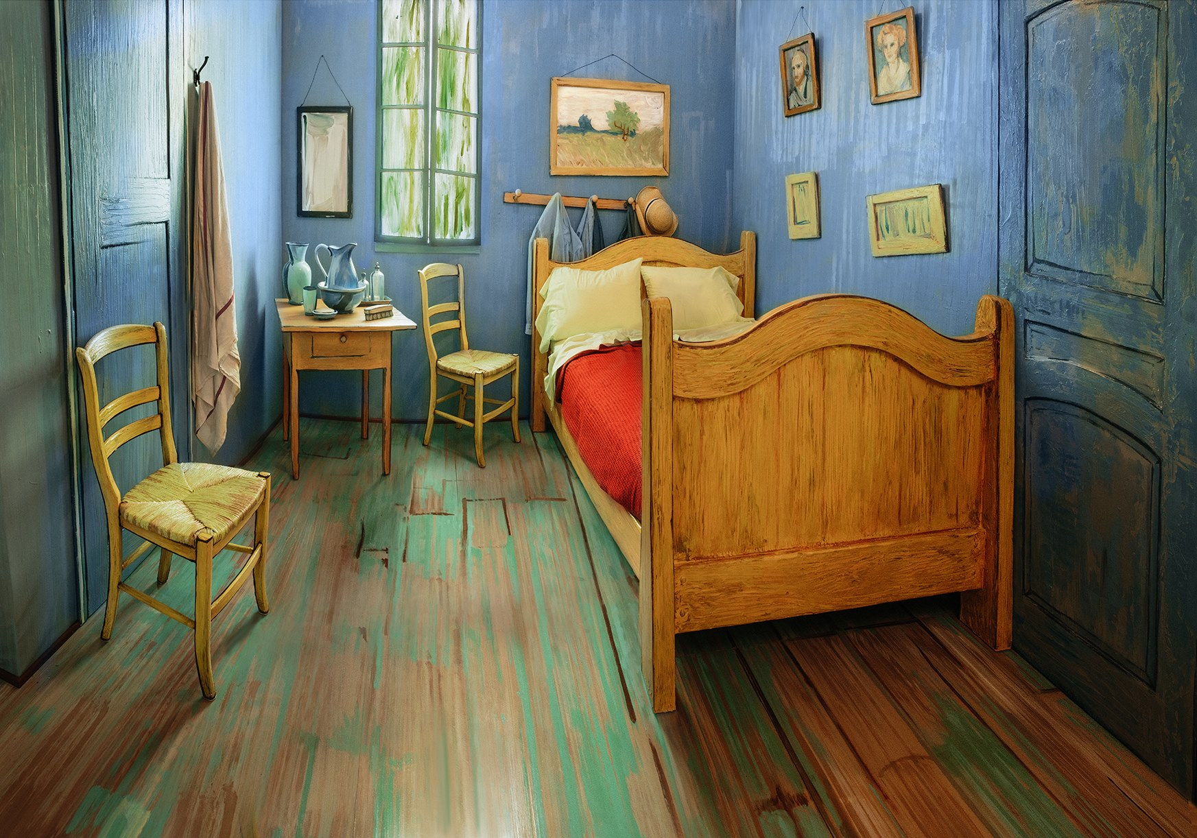 art institute of chicago rebuilds vincent van gogh's bedroom to visit