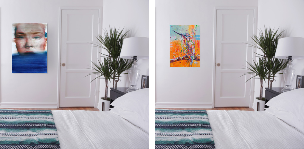 original art available at saatchi art can change the vibe of any room in your home