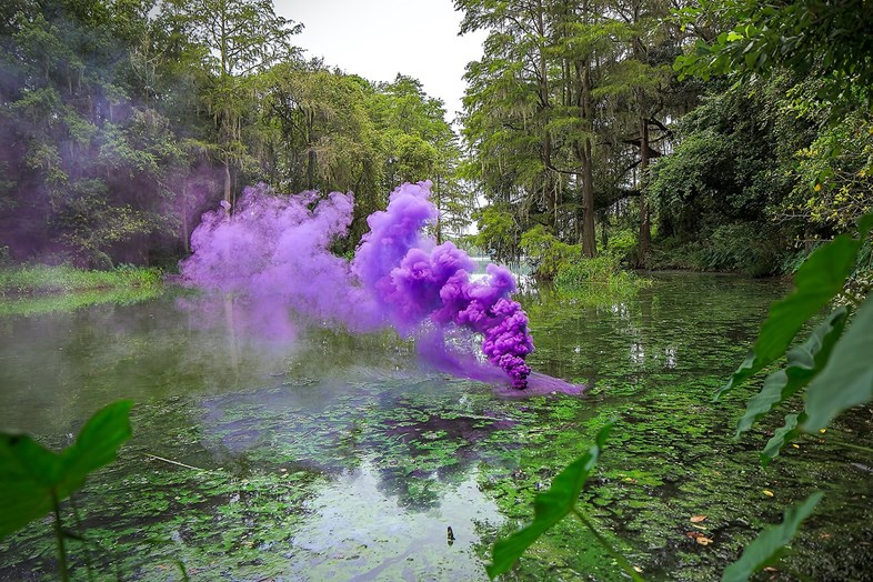 colored smoke is beautiful but ominous in this photo series