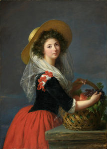 Vigee Le Brun's portraits of Marie Antoinette are celebrated for their Rococo style