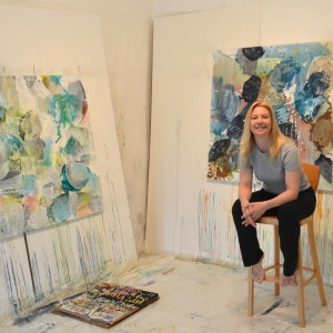 Liz in her studio -- main image