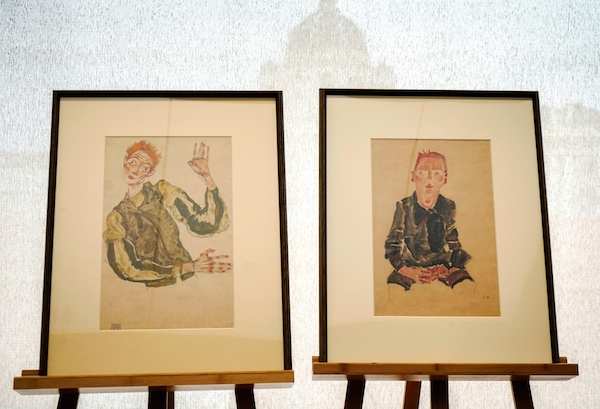 two egon schiele watercolors are returned to their owner after many years