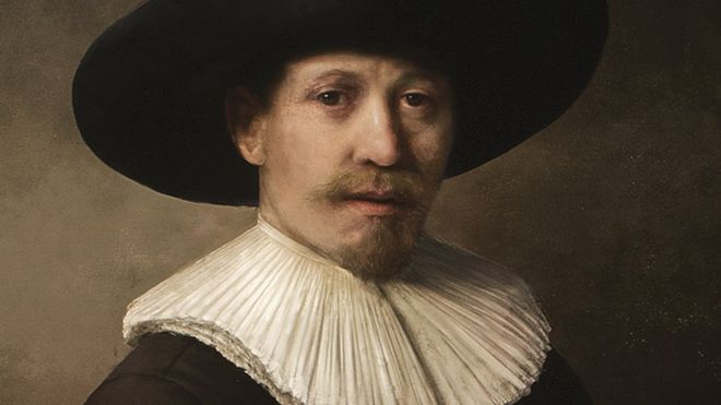 3d-printed and painted recreation of Rembrandt