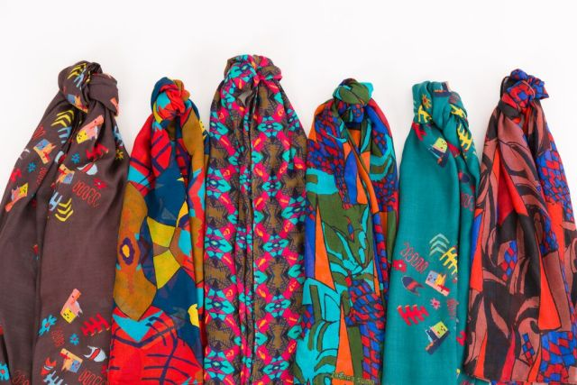 Primitive Modern scarves