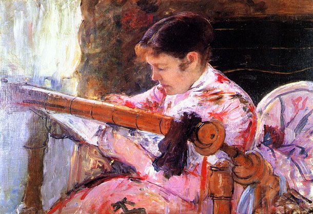 Lydia at the Tapestry Loom Mary Cassatt