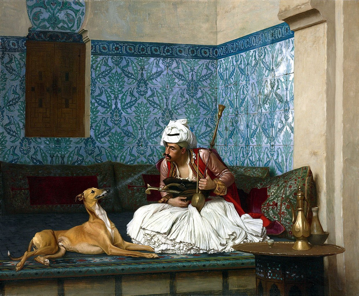 Arnaut_and_his_dog_by_Jean_Leon_gerome