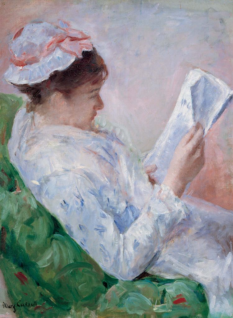 mary cassatt sister lydia reading a newspaper facts you didn't know
