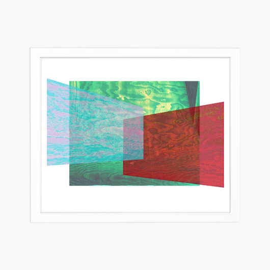 abstract blue green and red photography print on Saatchi Art