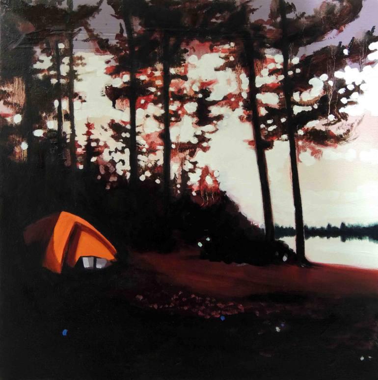 saatchi-art-andy-allen-tent-painting