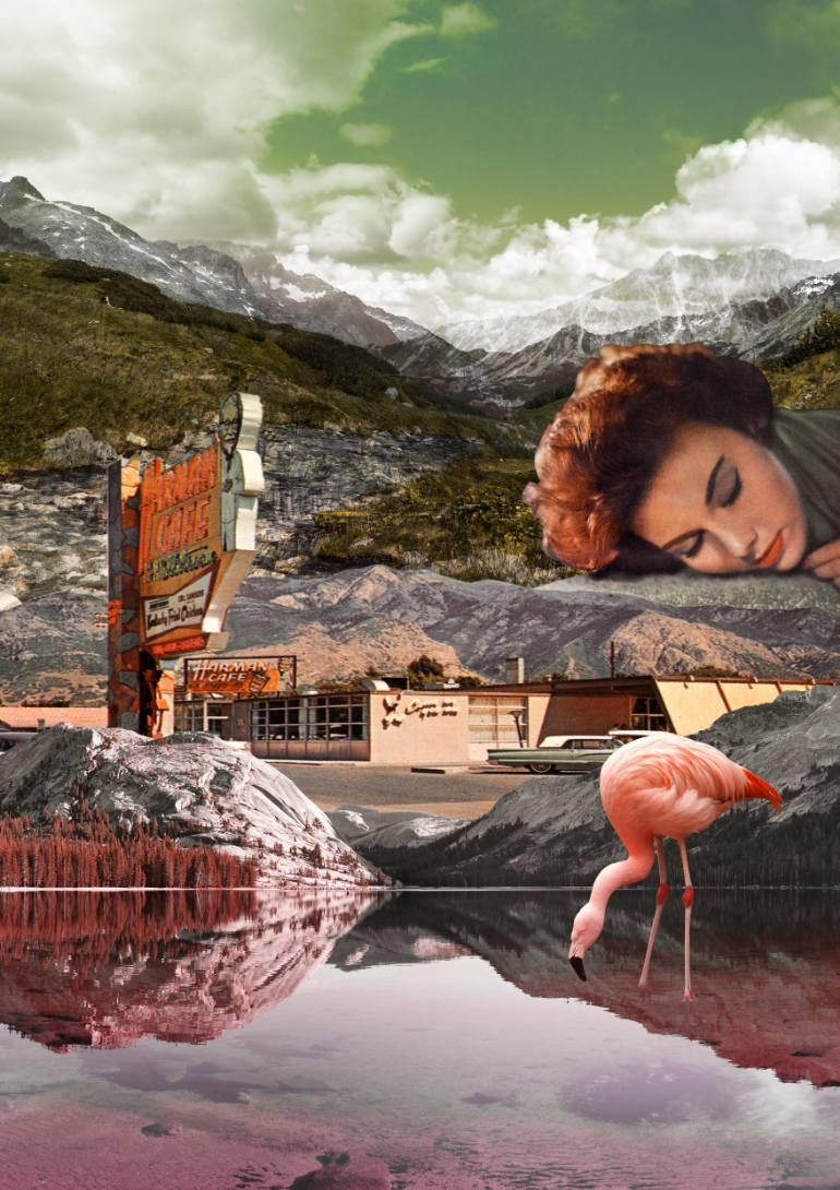 saatchi-art-motel-flamingo-collage-alexandra-gallagher