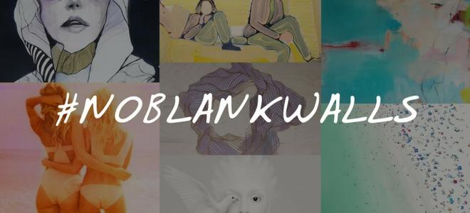 #NoBlankWalls win original art from Saatchi Art Instagram Sweepstakes