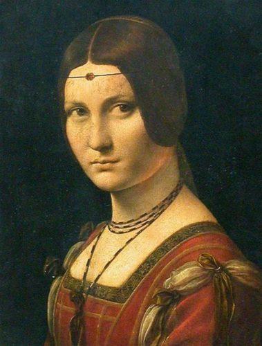 """""""La Belle Ferroniere"""" Leonardo da Vinci, 1495-1499"""