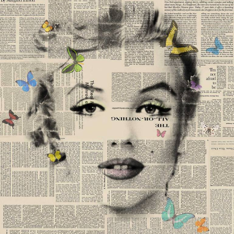 saatchi-art-marilyn-monroe-butterflies-vee-bee