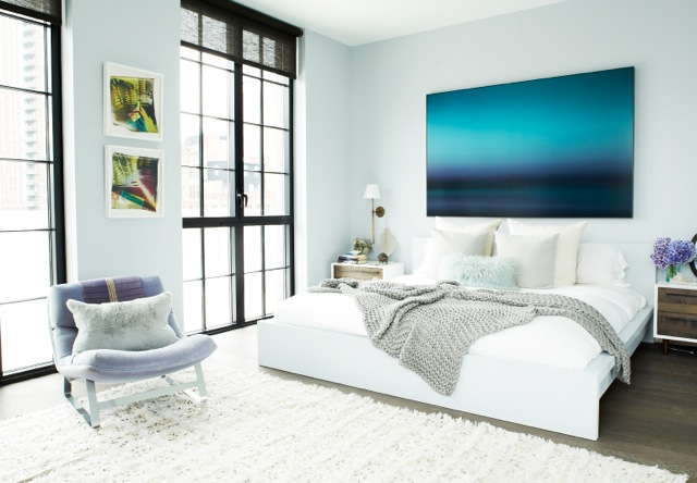 Good I Love The Serenity Of This Room. The Walls Are Painted A Greyish Sky Blue  To Invite The Outside In.The Artwork Above My Bed Is ...