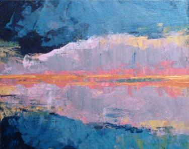 Pink Cloud Reflection painting by Beki Borman