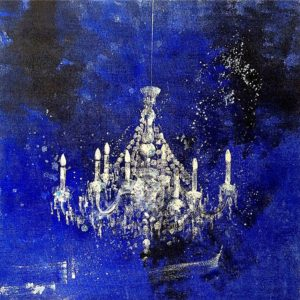 Chandelier-Claudio-Missagia-saatchi-art-figurative-blue-painting