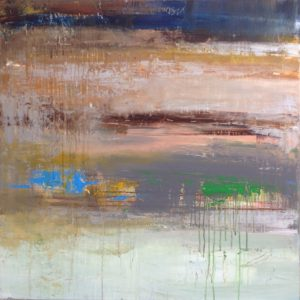 Green-and-blue-Hennie-van-de-Lande-saatchi-art-abstract-painting