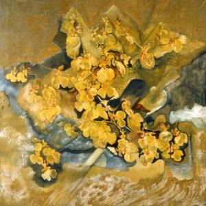 Mediterranean-Israel-Davidesco-saatchi-art-gold-figurative-painting