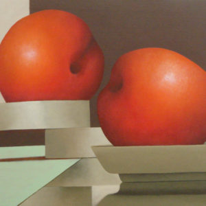 Plums-María-Álvarez-saatchi-art-orange-painting