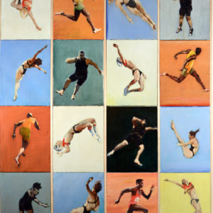 Olympic-Orbitals-nicholas-stedman-saatchi-art-figurative-painting-polyptych