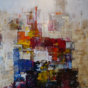 Komposisjon-I-Composition-I-magnus-petterson-saatchi-art-abstract-red-blue-painting