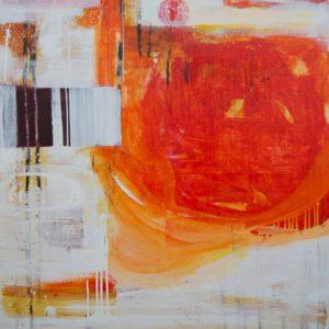 Mona-Birte-Wichstad-golden-future-saatchi-art-red-orange-abstract-painting