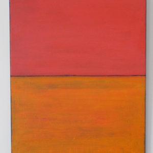 Orange-field-Vermilion-sky-siri-tenden-saatchi-art-pink-orange-painting