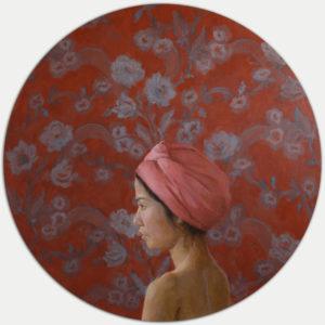 flowery-bather-Ninni-Heldt-saatchi-art-figurative-painting-women-flowers