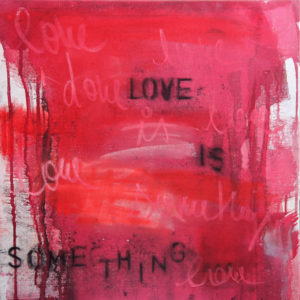 Love-is-something-SAFE-ART-saatchi-art-red-black-abstract-painting