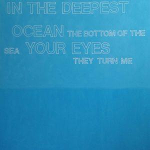 Radiohead-Jeff-Case-saatchi-art-blue-text-painting