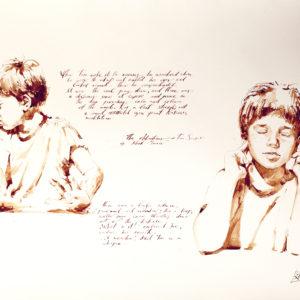 The-Adventures-of-Tom-Sawyer-illustration-Gregory-Radionov-saatchi-art-watercolor-painting