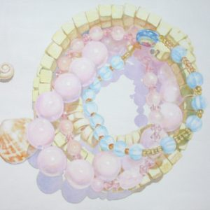White-Void-Room-YOONKYUNG-KIM-saatchi-art-beads-shells-painting