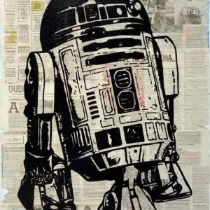 Saatchi Art Star Wars R2D2 Painting Erik Laubach