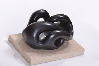 abstract bronze sculpture by celia zusman