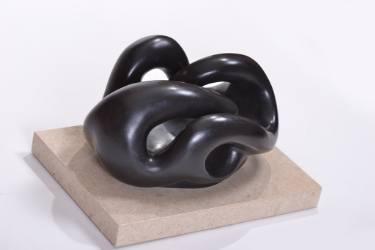 abstract bronze sculpture by celia zusman