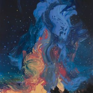 Milky way landscape artwork by Saatci Art artist grazyna smalej