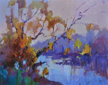 moody original landscape artwork pained by Saatchi Art artist Shandor Alexander