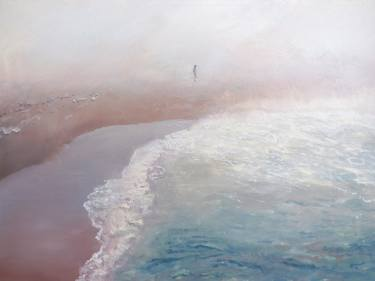 a dreamy zen beach painting by saatchi art artist relja penezic
