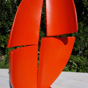 Four-pieces-orange-Joan-Barrantes-saatchi-art-metal-sculpture